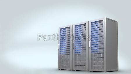 torre equipo ilustracion digital informacion tecnologia