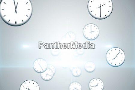 patron de reloj flotante generado digitalmente