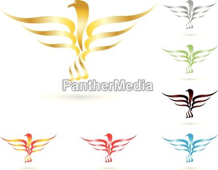 logotipo pajaro pajaro de fuego aguila