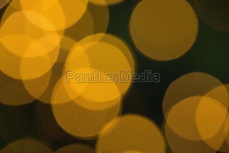 circulos de luz de navidad amarillo