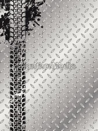 folleto industrial con pista de neumatico