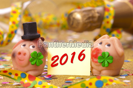 anyo nuevo 2016 cerdo suerte y