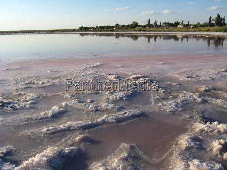 sal suciedad de agua dulce lago