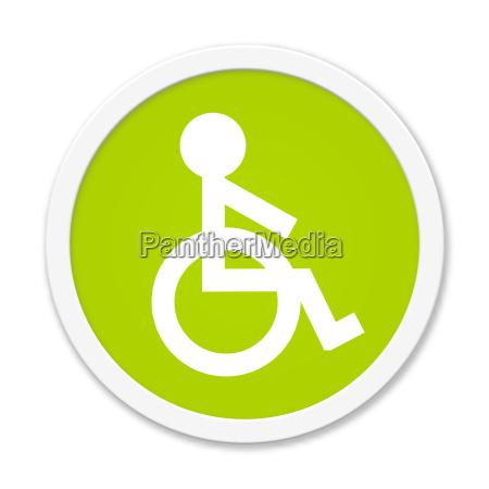 boton redondo de color verde con