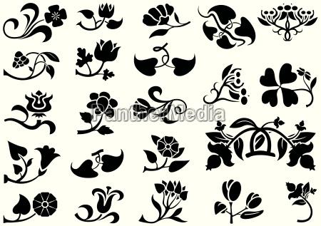 flower pictograms