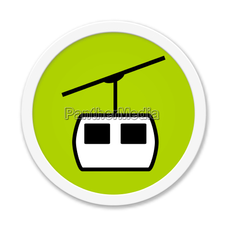 round green button with cableway symbol