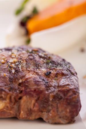 juicy grilled beef fillet steak with