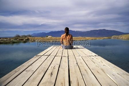 relajacion sentir horizontalmente al aire libre