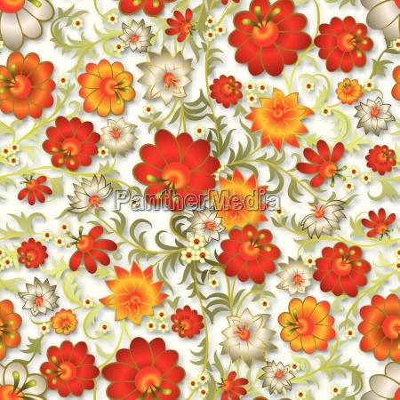 abstracto ornamento floral sin costura