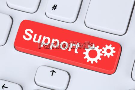 ayuda de servicio de soporte en