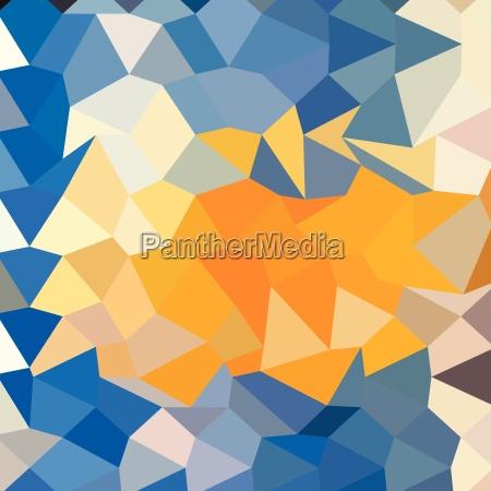 fondo azul oscuro abstracto bajo poligono