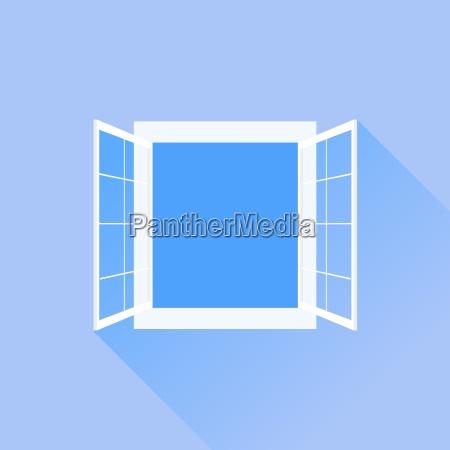 abrir ventana blanca aislada en