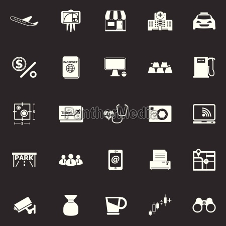 application icons on gray background