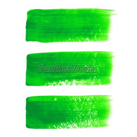 verde acrilico pintado vector trazo cepillo