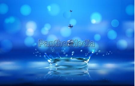 salpicaduras de agua