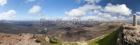 lanzarote panorama de la montanya