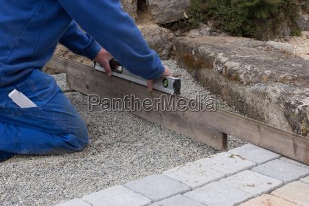 enderezar una superficie de pavimentacion