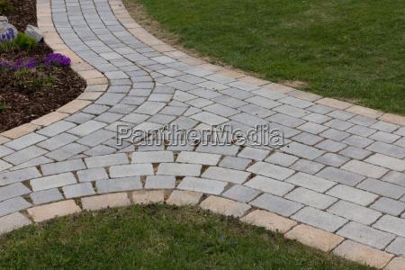 sendero de jardin ramificado