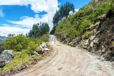dirt road in the cordillera blanca
