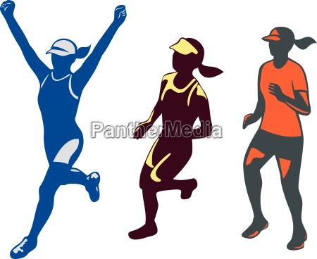 coleccion de corredores de maraton de