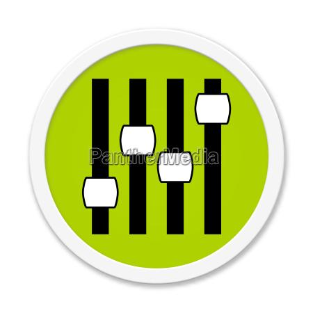 modern green round button settings