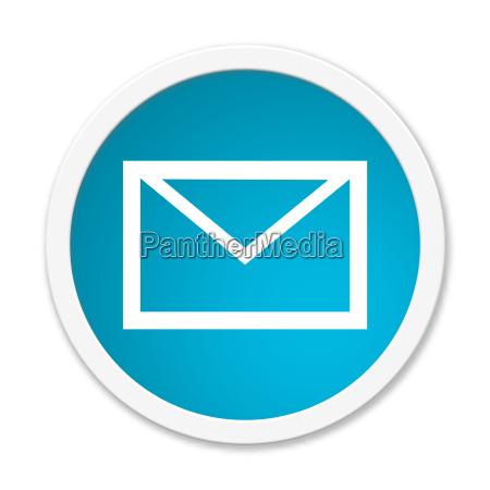 modern blue round button contact