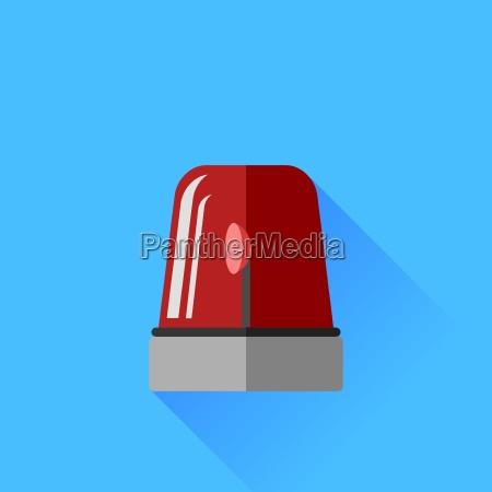 icono de sirena roja aislado en