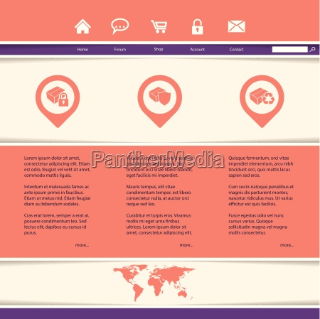 website template for product or service