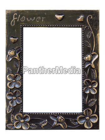 old grain picture frame flower design