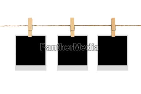 marco de fotos en blanco en