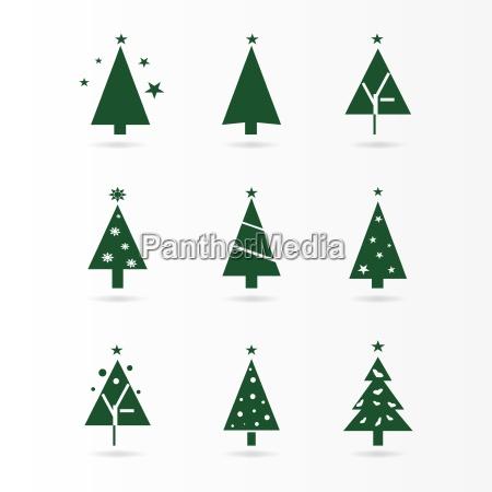 arbol forma decoracion arbol de navidad