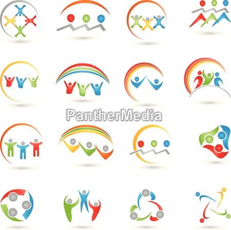 equipo insignias de la gente coleccion