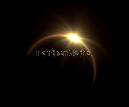 eclipse solar flare anillo