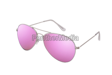 pink glasses as a symbol of
