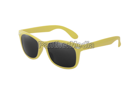 sunglasses in yellow as a symbol