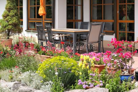 steingarten, mit, sitzplatz - 14258373