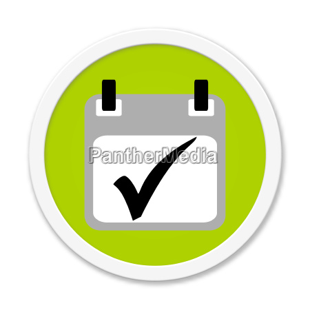 round button shows calendar