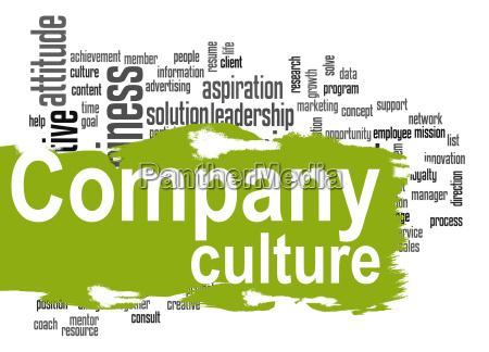 cultura de la empresa nube palabra