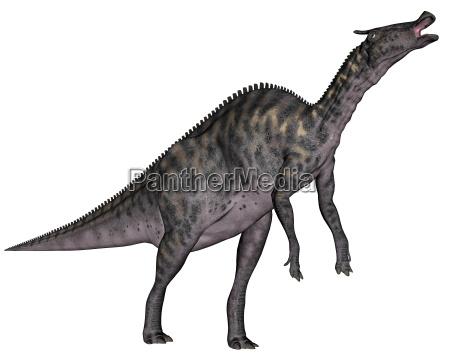 dinosaurio saurolophus render 3d