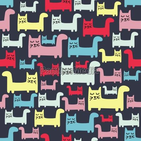 patron sin costuras con gatos