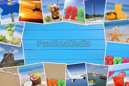 marco para fotos de vacaciones con