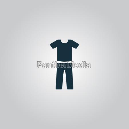 uniforme pantalones y camiseta