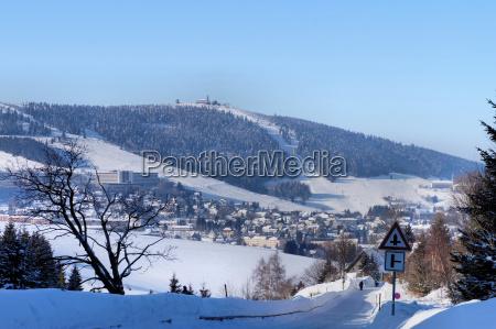 montanyas invierno sajonia erzgebirge paisaje de