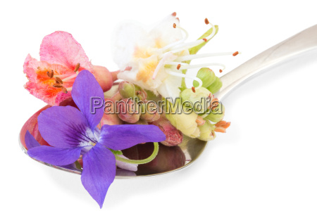 bach flowers on a teaspoon