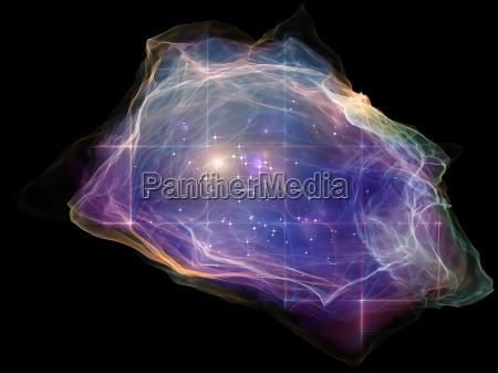 mente de particulas colorido