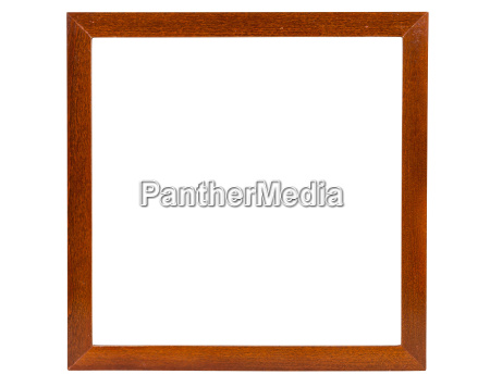 marco de madera cuadrado oscuro