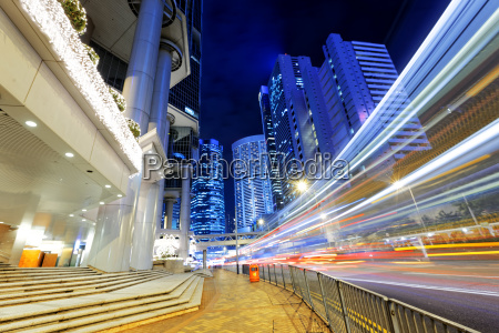 noche de trafico de hong kong