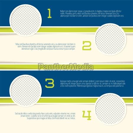 disenyo de infografia con los envases