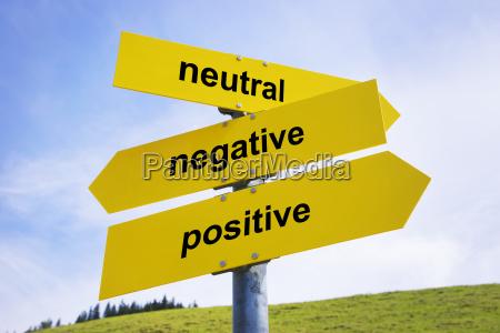 senyales de flechas positivas negativas neutrales