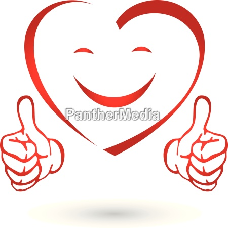 corazon con las manos corazon sonrisa